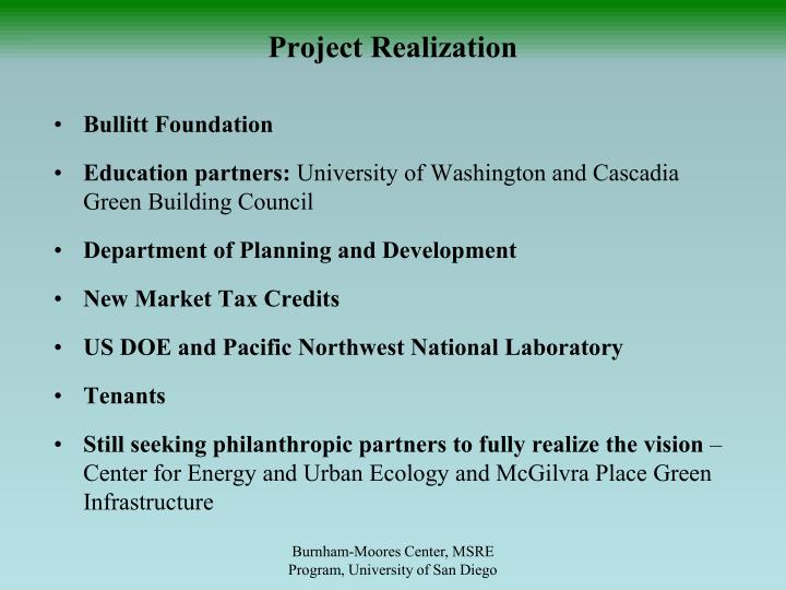 Project Realization