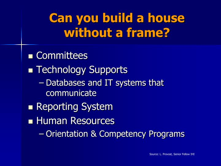 Can you build a house without a frame?