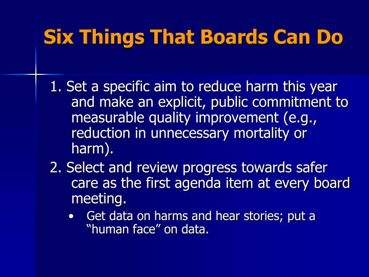 Six Things That Boards Can Do