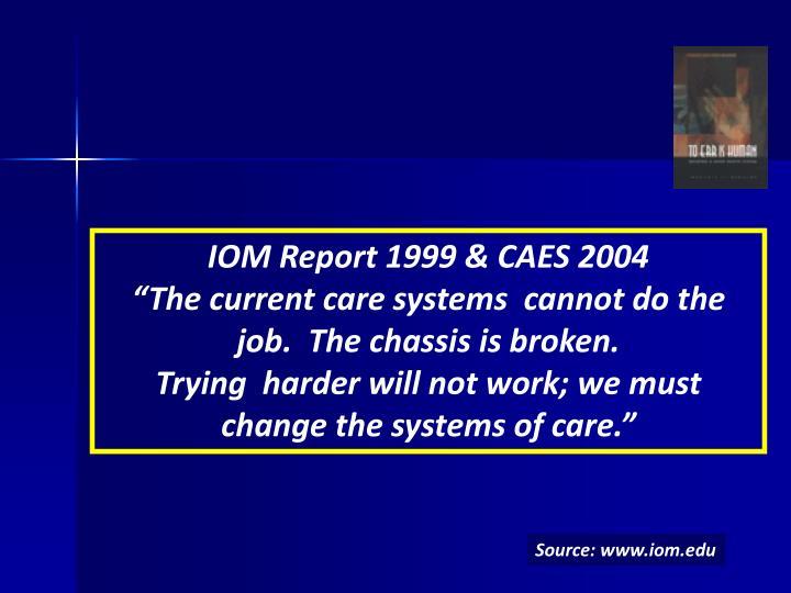 IOM Report 1999 & CAES 2004