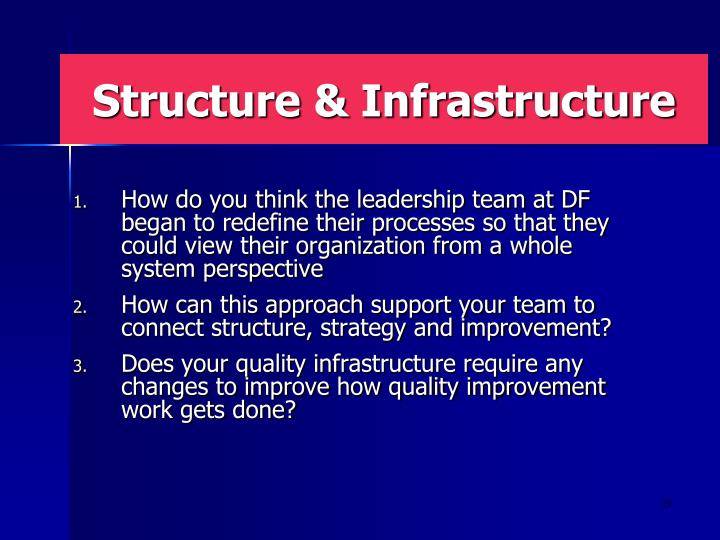 Structure & Infrastructure