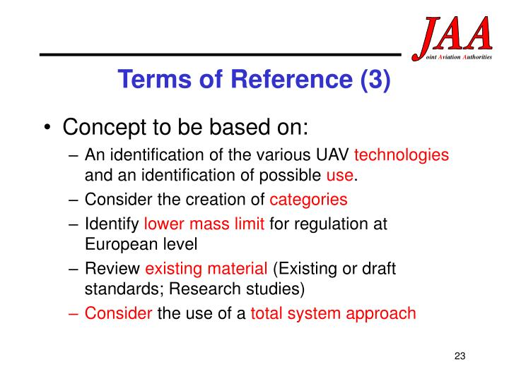 Terms of Reference (3)