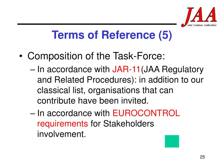 Terms of Reference (5)
