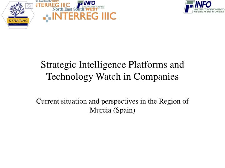 strategic intelligence platforms and technology watch in companies n.