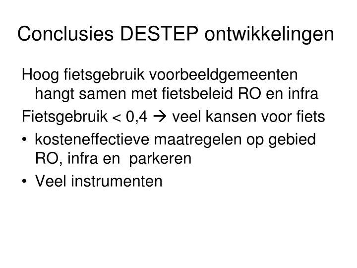 Conclusies DESTEP ontwikkelingen