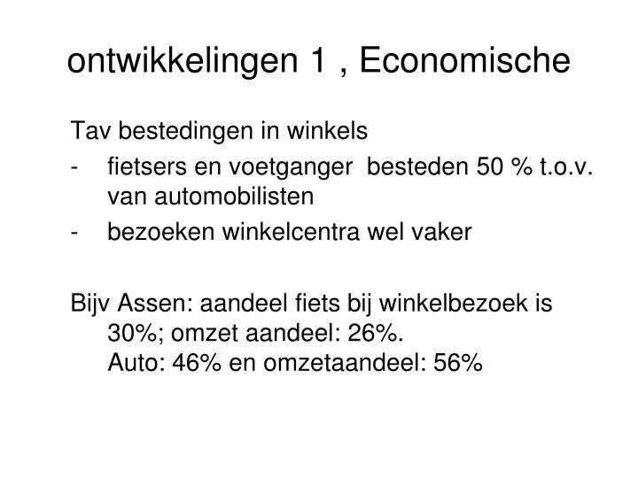 ontwikkelingen 1 , Economische