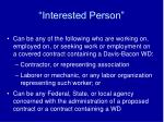 interested person