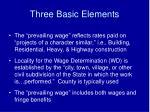 three basic elements