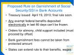 proposed rule on garnishment of social security ssi in bank accounts