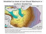 modelled ice sheet at last glacial maximum in southern weddell sea
