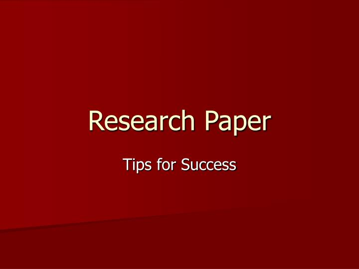 reearch paper Most university courses involve some sort of extended writing assignment, usually in the form of a research paper papers normally require that a student identify a broad area of research related to the course, focus the topic through some general background reading, identify a clear research.