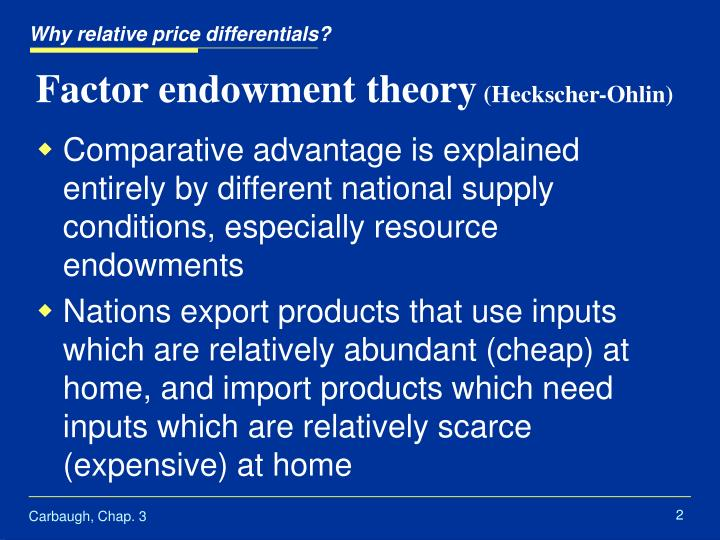 factor endowment theory definition