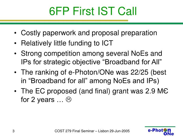 6fp first ist call