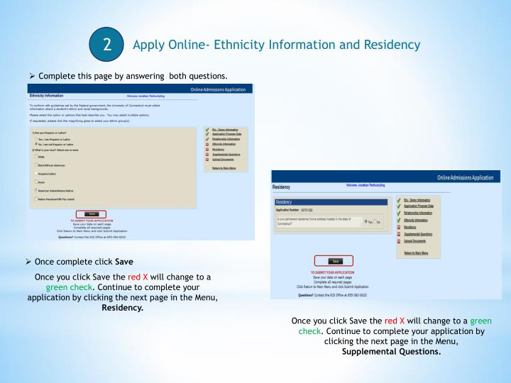 Apply Online- Ethnicity Information and Residency