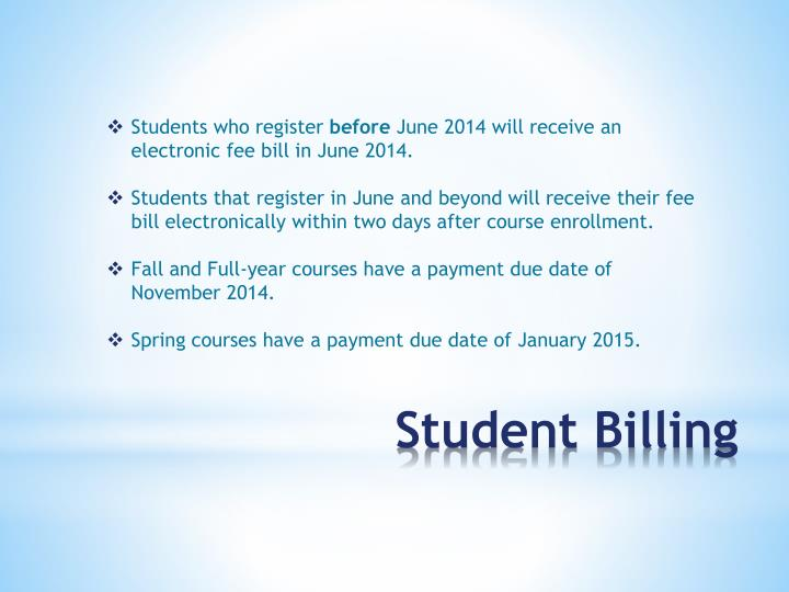 Students who register