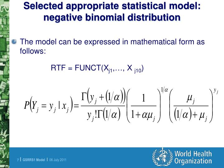 Selected appropriate statistical model: