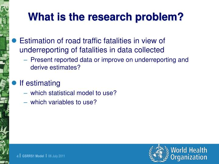 What is the research problem?