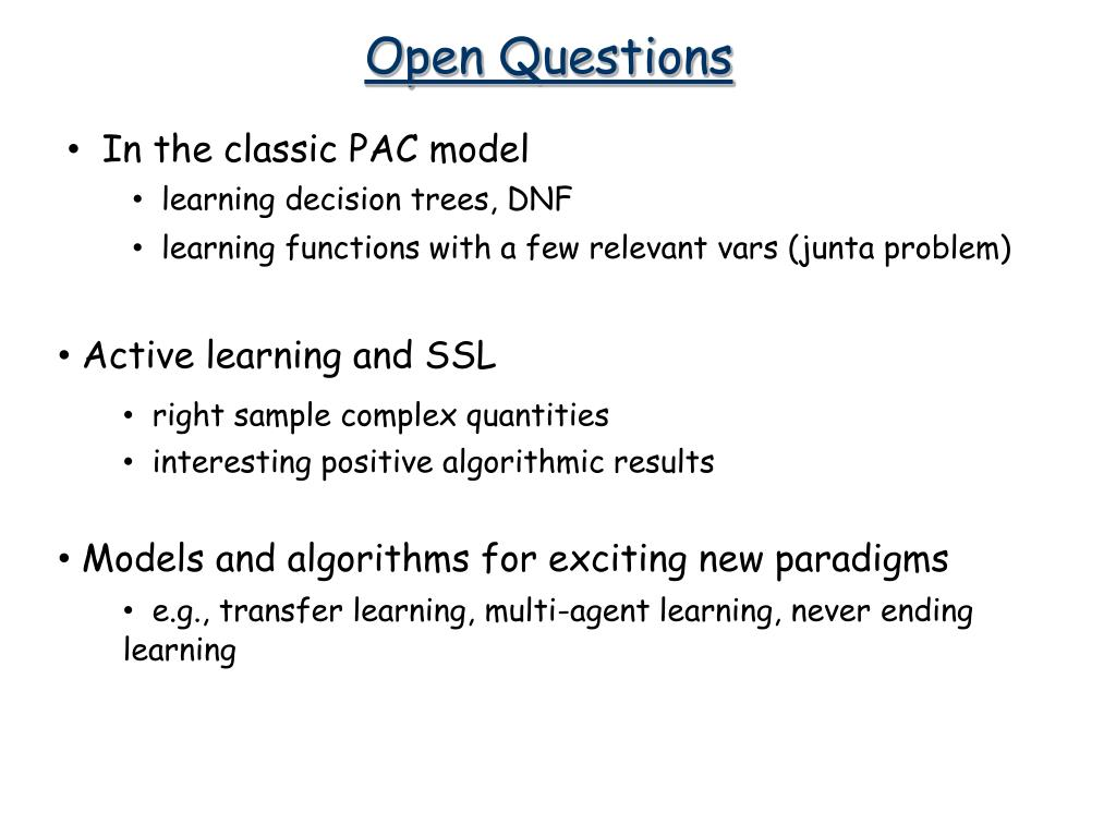 PPT - Machine Learning Theory PowerPoint Presentation - ID