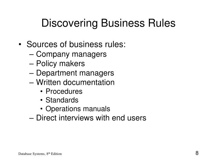Discovering Business Rules