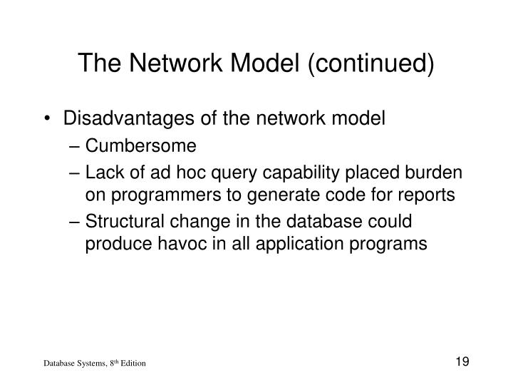 The Network Model (continued)