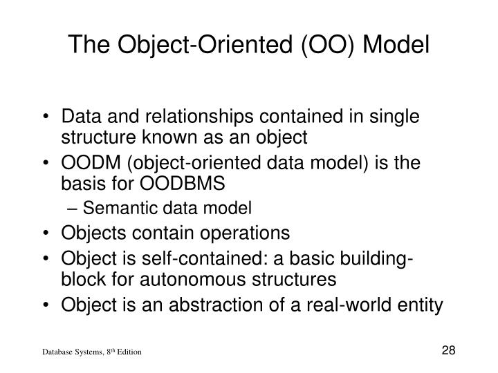 The Object-Oriented (OO) Model