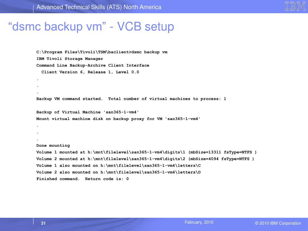 PPT - Protecting VMware Virtual Machines with Tivoli Storage