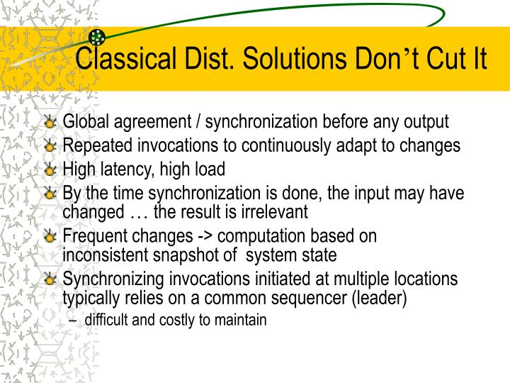 Classical Dist. Solutions Don