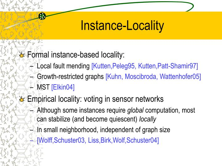 Instance-Locality