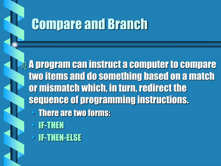 Compare and Branch