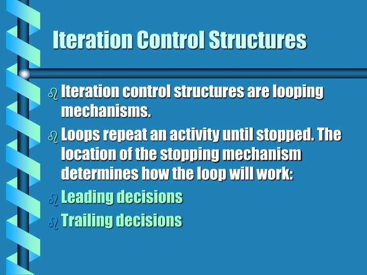 Iteration Control Structures