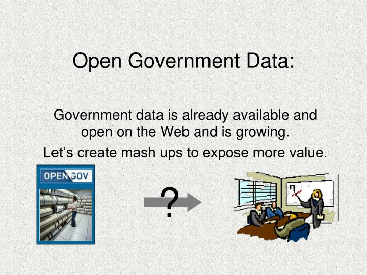 Open government data