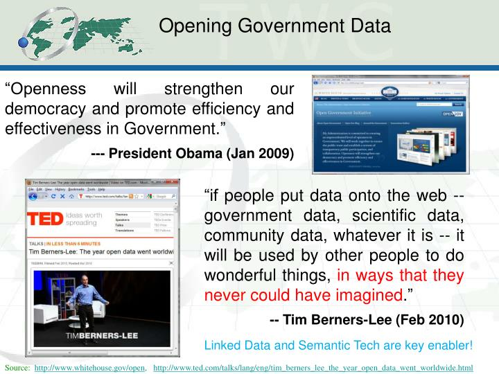 Opening Government Data