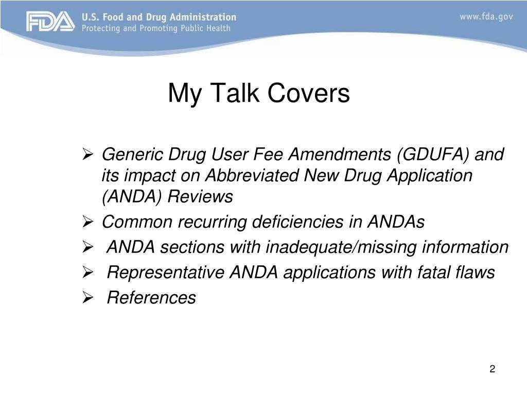 PPT - How to Avoid Common Deficiencies in the ANDAs