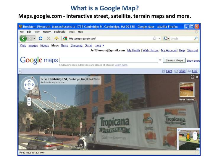 What is a Google Map?
