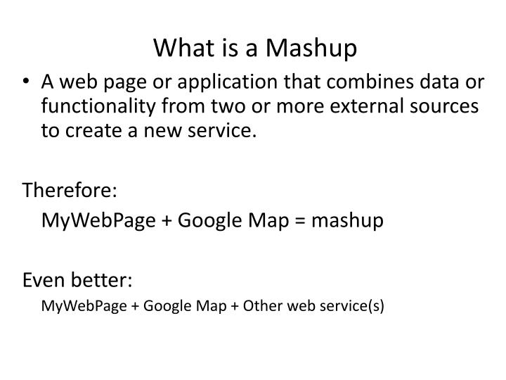 What is a Mashup