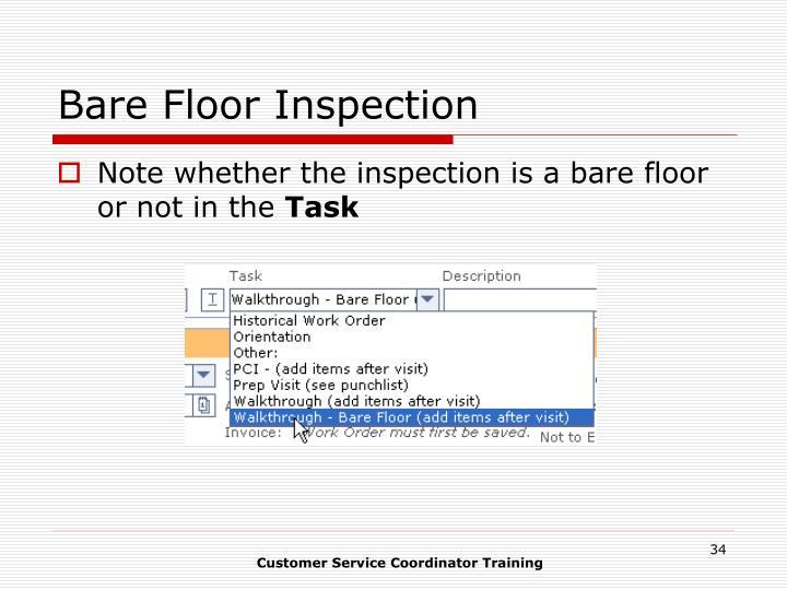 Bare Floor Inspection