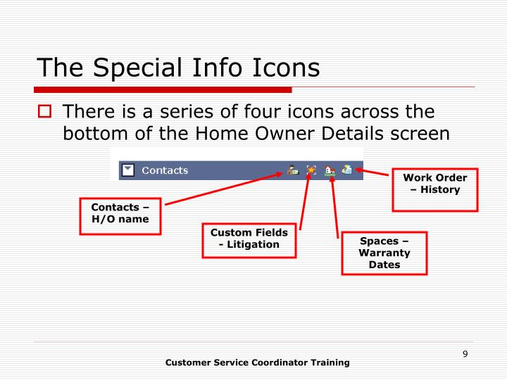 The Special Info Icons