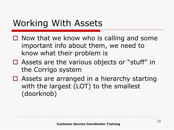 Working With Assets