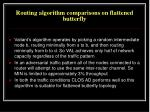 routing algorithm comparisons on flattened butterfly1