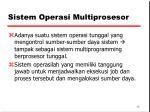 sistem operasi multiprosesor