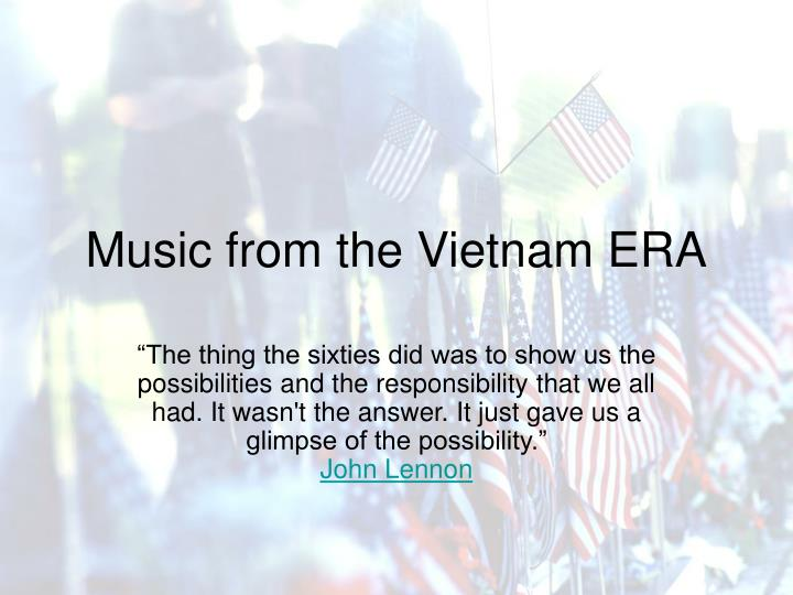 music from the vietnam era n.