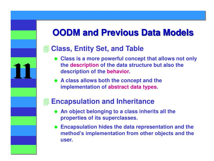 OODM and Previous Data Models