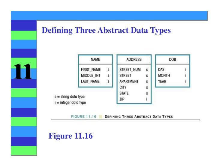 Defining Three Abstract Data Types