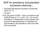 sop for presidency and president succession planning 1