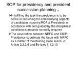 sop for presidency and president succession planning 2