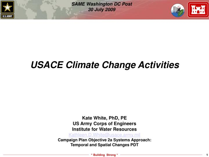 usace climate change activities n.