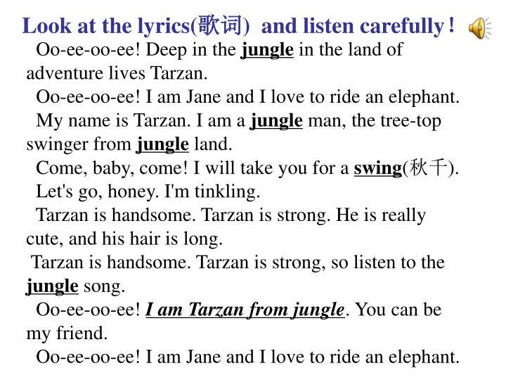 Look at the lyrics(
