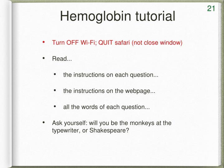 Hemoglobin tutorial