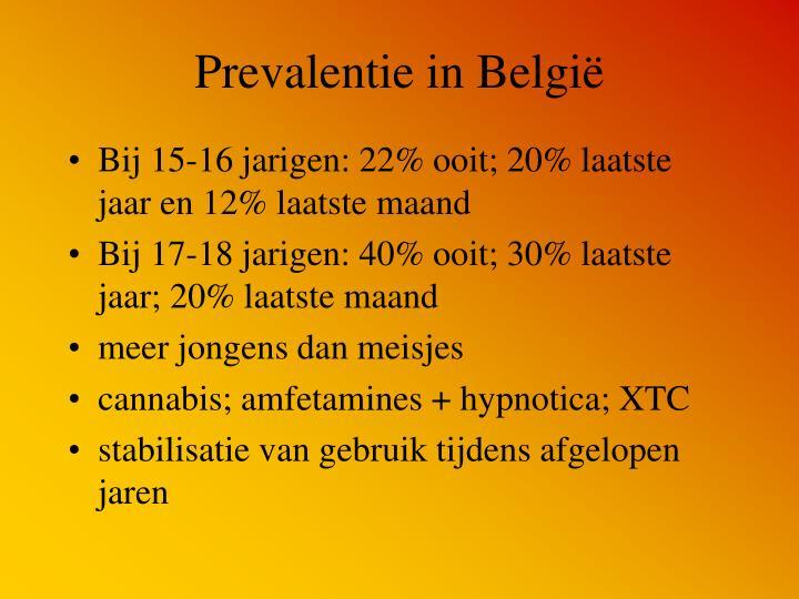 Prevalentie in België