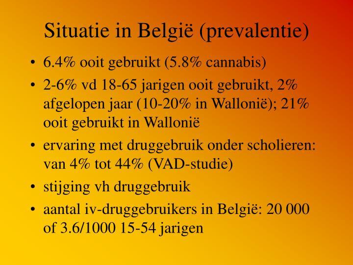 Situatie in België (prevalentie)